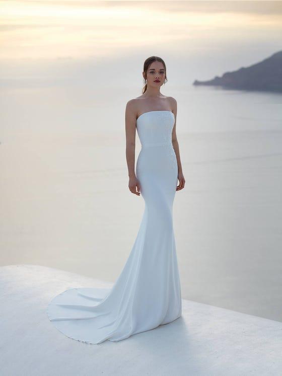 parte delantera vestido novia sirena aland