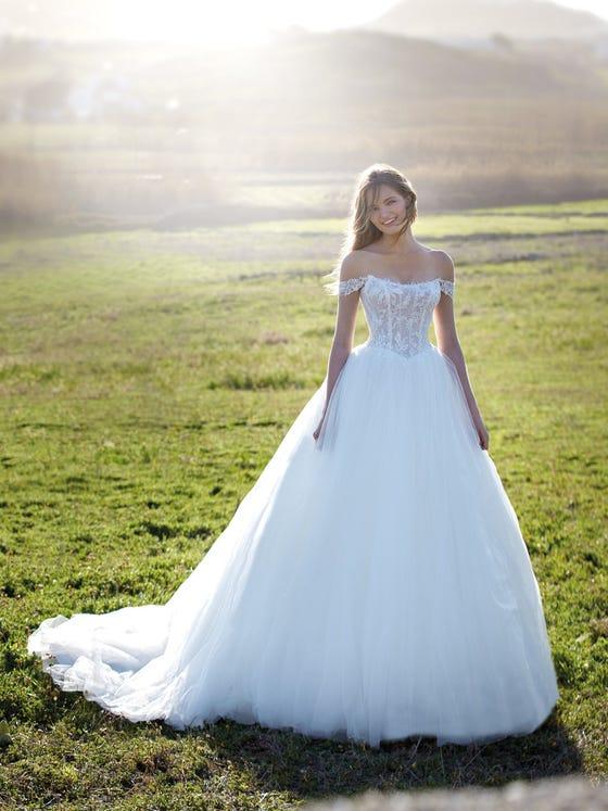 parte delantera vestido novia Princesa barat