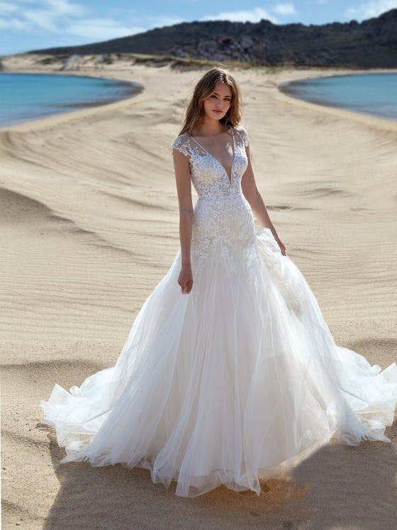 parte delantera vestido novia fitflare brezza