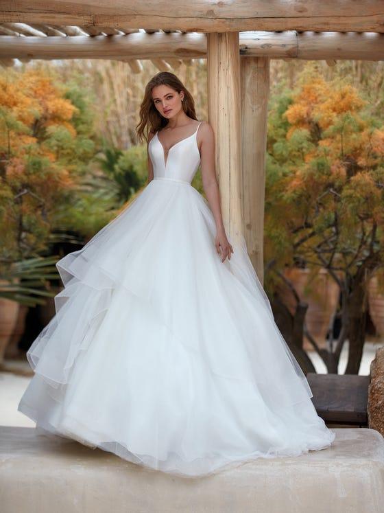 parte delantera vestido novia Princesa briza