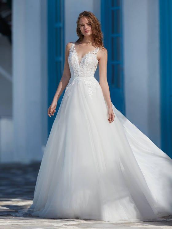 parte delantera vestido novia Princesa caver