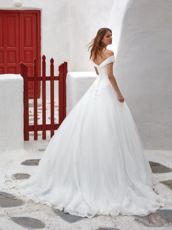 parte trasera vestido novia Princesa churada