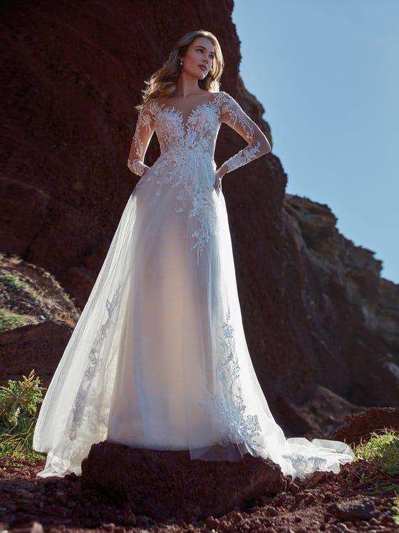 parte delantera vestido novia evase ilizia