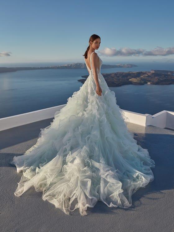 parte trasera vestido novia princesa java