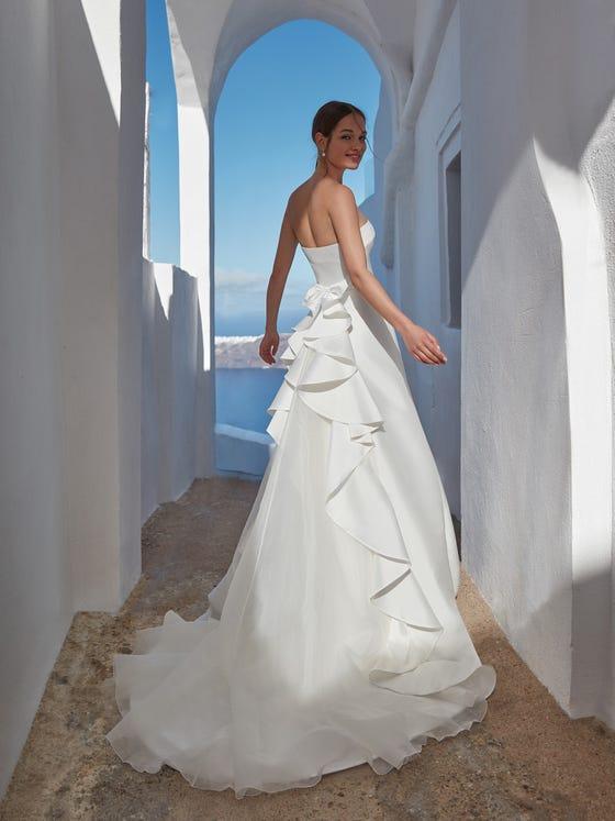 parte trasera vestido novia a line malaita