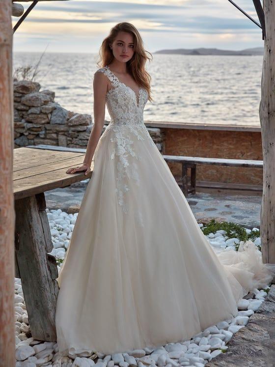 parte delantera vestido novia Princesa maria
