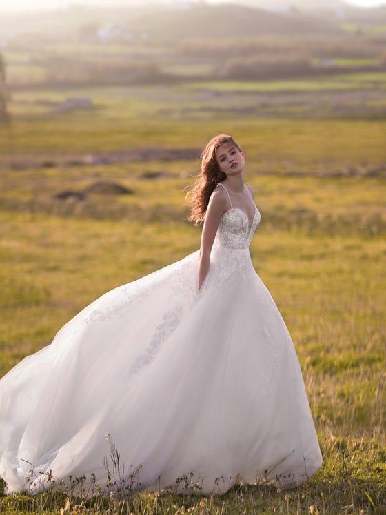 parte delantera vestido novia Princesa matanuska