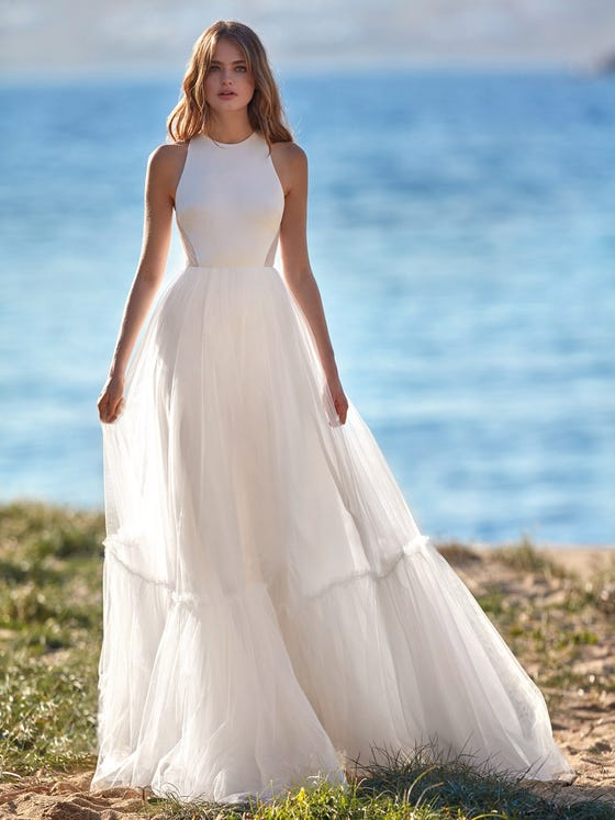 parte delantera vestido novia a line nashi