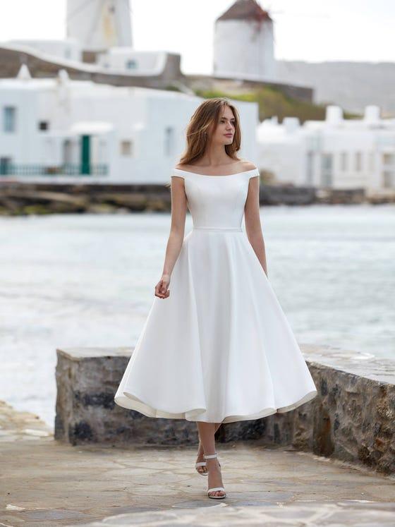 parte delantera vestido novia evasé norte
