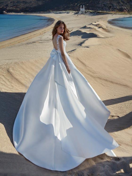 parte trasera vestido novia Princesa pali